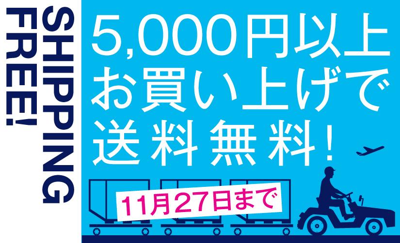 期間限定5,000円以上で送料無料