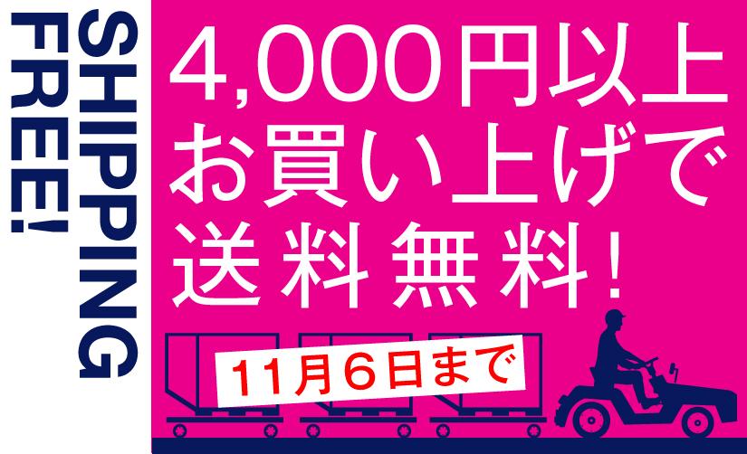 期間限定4000円以上で送料無料